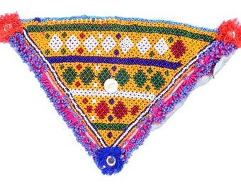 Vintage Kuchi Beaded Patch / Kuchi Beaded Denim Dress Patch / beaded-patch / Denim Jacket Beaded Patch