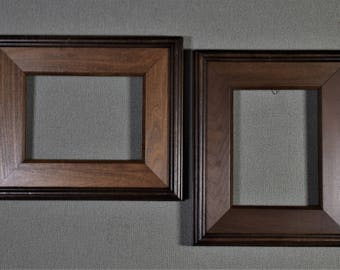 6x8 Frame Wide Walnut Plenaire Wood with Optional Glass and Matting Complete Kit