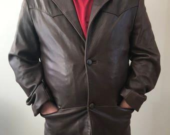 Mens Genuine Leather Jacket Dona Michi XL- XXL