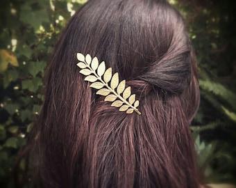 Laurel Leaf Bobby Pin Gold Laurel Leaf Hair Clip Grecian Hair Bridal Accesories