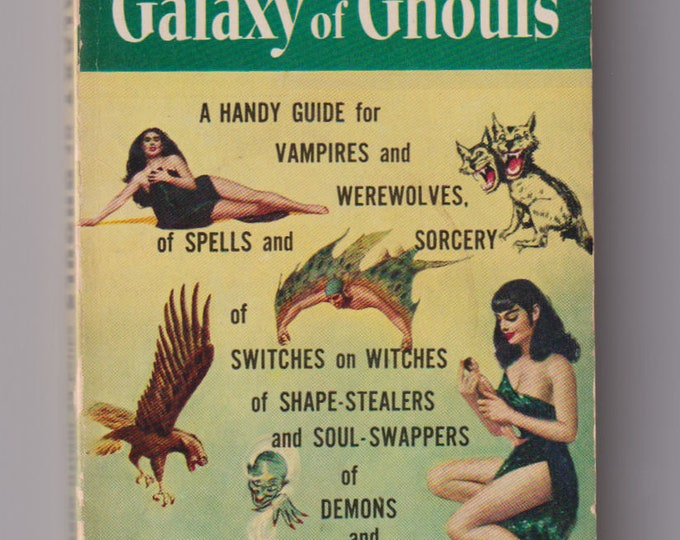 1955 Galaxy of Ghouls, Sci-Fi Horror Paperback, First Printing. Edited by Judith Merril. VG/FN. Lion Library