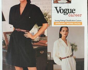 Vogue Pattern Ralph Lauren Women's SHORT JUMPSUIT 2255 Size 12 14 16 UNCUT 1989