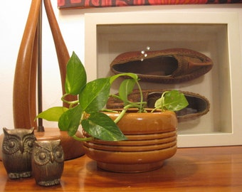 Mid Century Modern Haeger Pottery Planter - Butterscotch