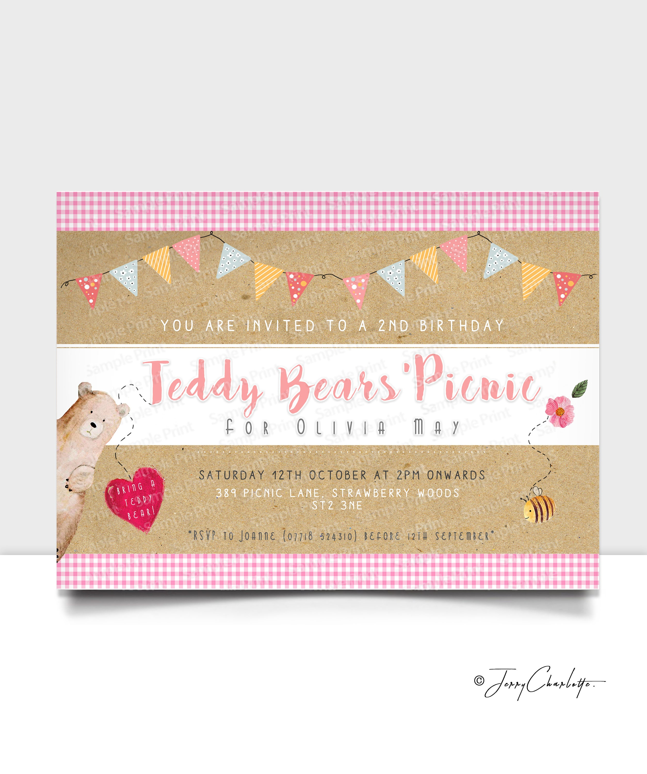 Teddy bears picnic invitation teddy bear picnic party invite