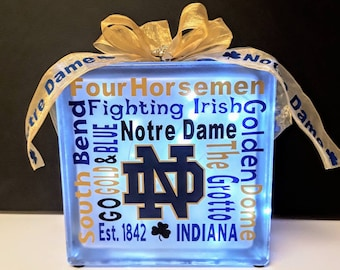 College Lighted Glass Block