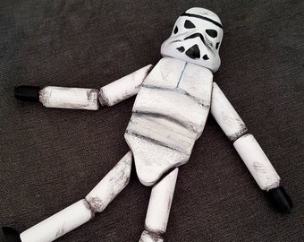 """Star Wars Rogue One inspired Stormtrooper doll """"Stormie"""""""