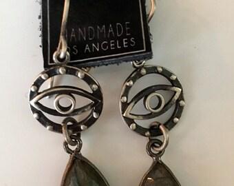 KBD Protective Eye Sterling and Laborodite Earrings