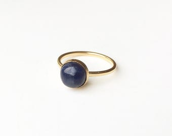 Blue Sapphire 14 carat goldfilled/gold filled ring