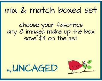 Card Set--Mix & Match Boxed Set of 8 Cards