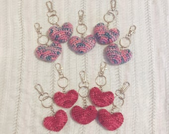 Heart Keychains for Support
