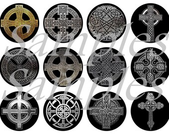 Celtic Magnets, Celtic Pins, Celtic Flatbacks, Black and White Celtic Symbols, Celtic Cross Magnets, Celtic Cross Pins, Celtic Cross Badges