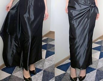MARK Silk blend Black Maxi Skirt