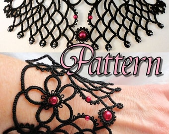 "Tatting Pattern Necklace and Bracelet ""Fairest"" PDF Instant Download"