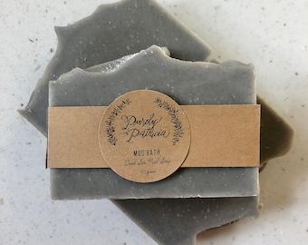 Mud Bath   Dead Sea Mineral Mud Soap   Purely Patricia   Handmade   All Natural   Vegan