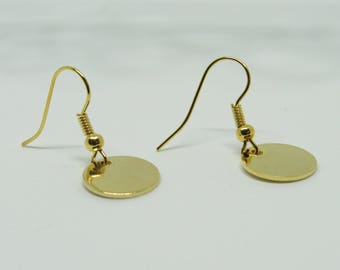 Gold Earrings, 24K Gold Jewelry, Minimal Jewellery, Gold Filled, Gift For Her, Gold Jewellery, Present, Gold Jewelry, Gift for Her, Present