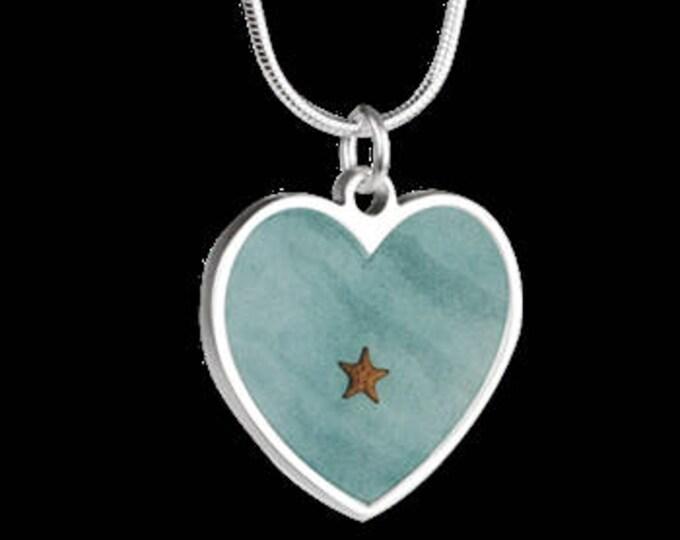 "Heart Necklace ""Starfish"""