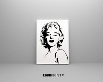 Fashion Print, Marilyn Monroe, Marilyn Monroe Print, Marilyn Poster, Marilyn  Monroe Wall Art, Fashion Wall Art, Fashion Decor, 50x70 Print