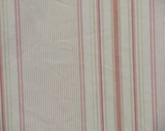 COTTAGE STRIPES  very shabby chic Cotton fabric