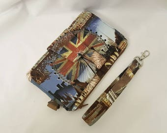 London Wallet Wristlet - Custom - Made to order - Swoon Pearl - London  Gift