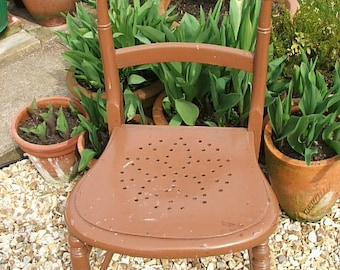 Old Vintage Painted Wooden Chair