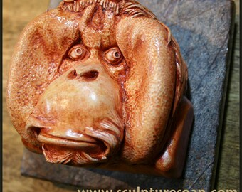 Orangutan Hand Painted Figurine
