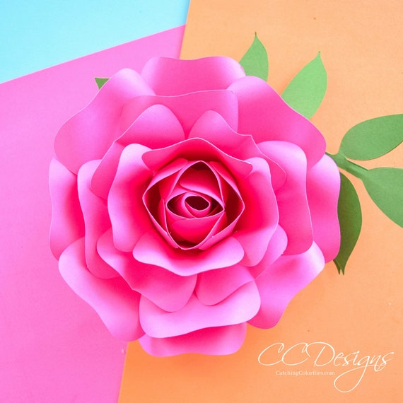 Paper rose template small paper flower rose template step by step paper rose template small paper flower rose template step by step easy paper rose svg cut files printable pdf mini alora rose from catchingcolorflies mightylinksfo