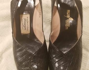 1940s peep toe sandals