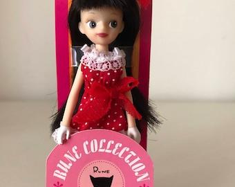 Vintage japan RUNE NAITO PLAN Doll (Red dress)