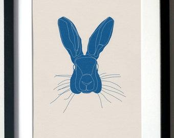 Hare. A4 Digital Print, Wall Art, Illustration.
