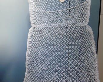 Wire basket made of iron-industrial-DIY-laundry room-kitchen bath basket wire basket iron-white-white