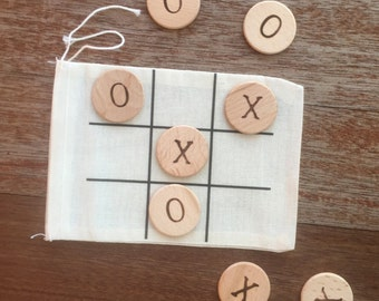 Wooden Travel Tic Tac Toe Game