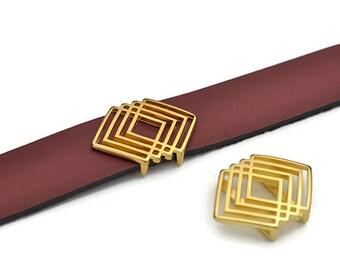 20MM Abstract Geometric Slider - Nickel Free Gold(1)
