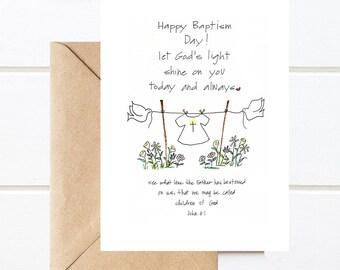 Baptism card etsy physicalbaptism card5x7 catholic greeting card m4hsunfo