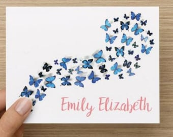 Baby thank you card: Personalized and personally designed baby butterfly shower thank you card! Multiple pack sizes available!