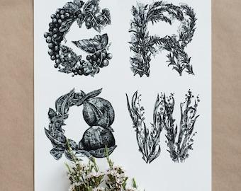 GROW - Giclée art print