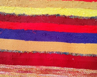 Handwoven Rag Rug Bohemian Style
