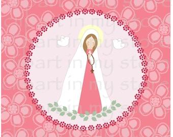 Virgen Maria clipart, Bautismo, Comunion, Archivos Eps, Jpg, Png 300 dpi