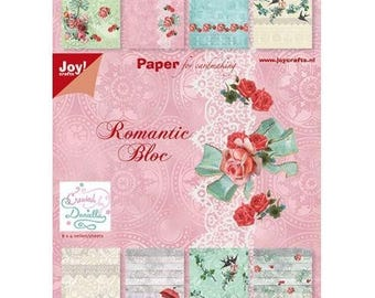 Block of 32 paper 15 x 21 cm JOY CRAFTS romantic