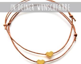 Friendship Bracelet Golden Hearts