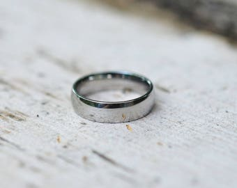 Stainless Steel Ring, Wedding Ring, Mens Ring, Anniversary Ring, 6mm Wide Ring, Promise Ring, Stainless Steel Band, Blank Ring