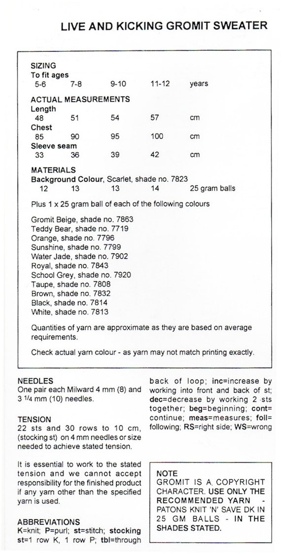 Wallace And Gromit Knitting Pattern Image collections - knitting ...