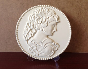 White Cameo Wall Decor,wall hanging
