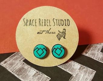 JADE OWL EARRINGS ~ Twin Peaks Earrings ~ Twin Peaks Jewelry ~ Jade Owl Ring ~ David Lynch ~ Studs