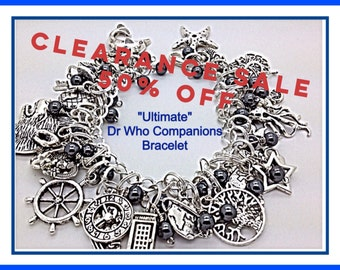 Doctor Who Fandom Inspired Charm Bracelet Ultimate Companions 50% OFF  jewelry geekery style with hematite