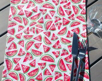 Napkin - school - home - children - elastic - watermelon - red - green - gift - return to school - zero waste - independence