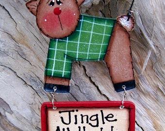 Jingle All The Way Reindeer Ornament