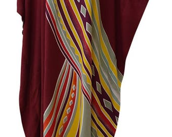 Neu AURORA atemberaubende Kaftan Kaftan Buttersoft Strand Cover Up lange Cool Kleid Plus Damen Kaftan Damen Luxus Hand gemacht Batik weichen Geschenk neu