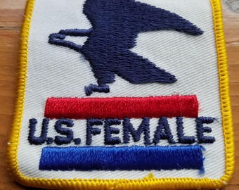 "Vintage ""US Female"" patch, new"