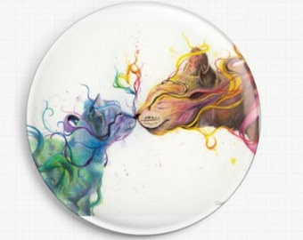 Cat Needle Minder - Licensed Art, LOVE, Dany Lizeth, Cross Stitch Keeper - Kitten Fridge Magnet