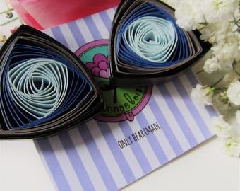 SilverBlue paper filigree Earrings